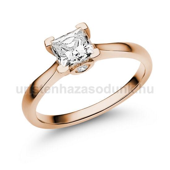 E206RC - CIRKÓNIA köves rozé arany Eljegyzési Gyűrű