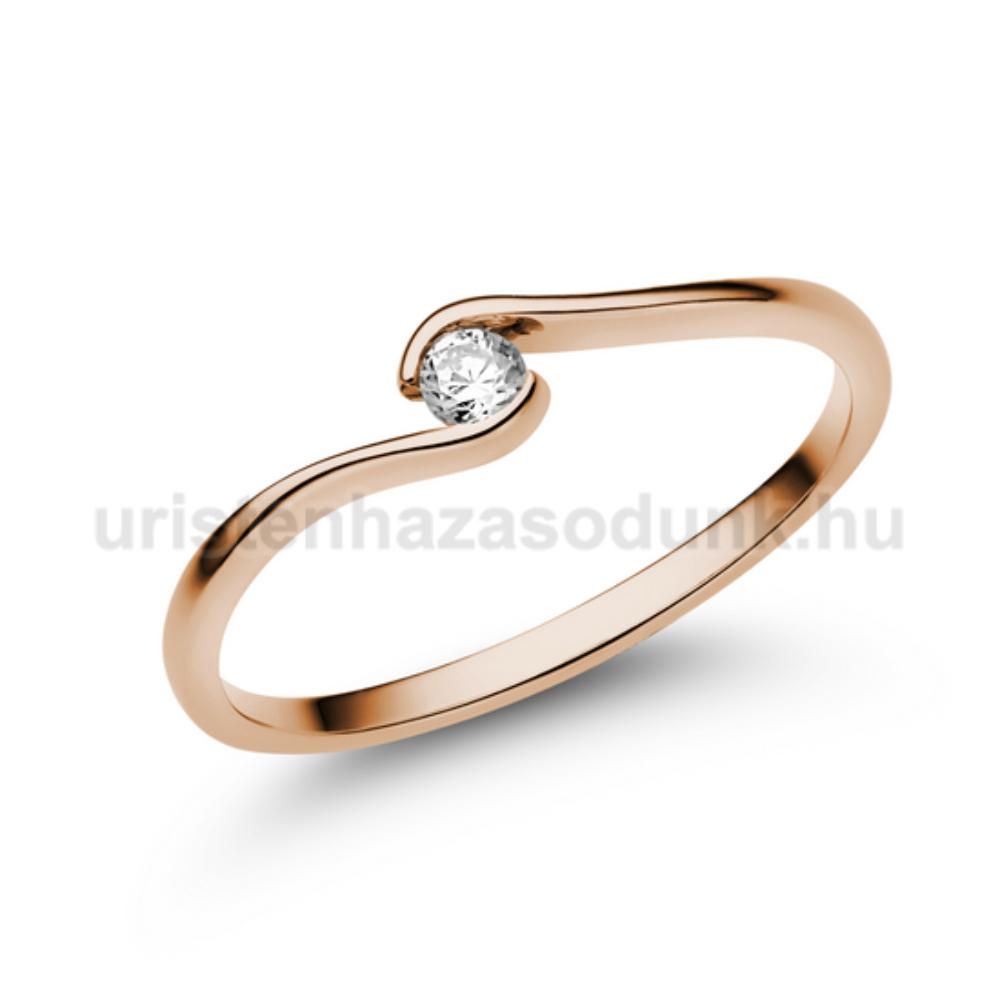 E105RB07 - GYÉMÁNT:  0.07 CT (=2.6mm Ø) Eljegyzési Gyűrű