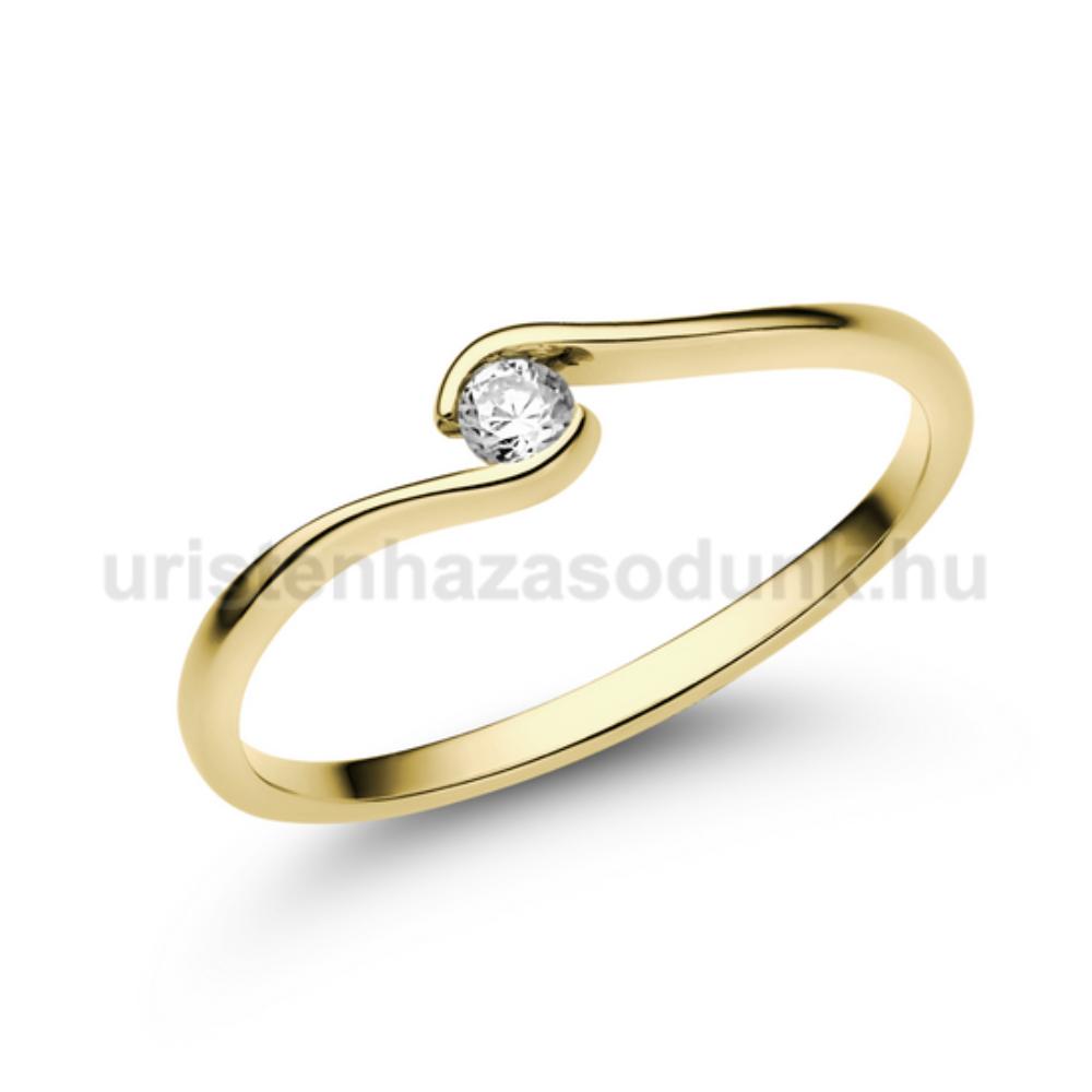 E105SB08 - GYÉMÁNT:  0.08 CT (=2.7mm Ø) Eljegyzési Gyűrű