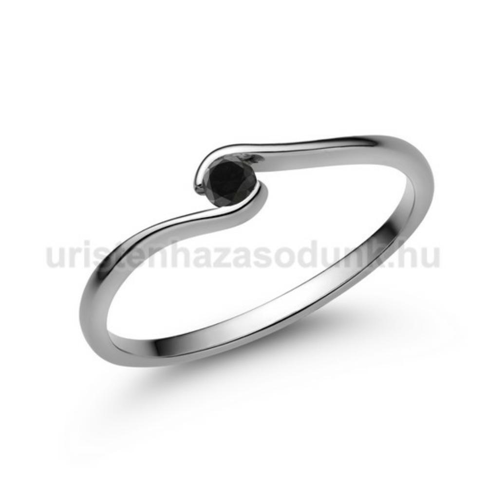 E105FBB - FEKETE GYÉMÁNT - Eljegyzési gyűrű