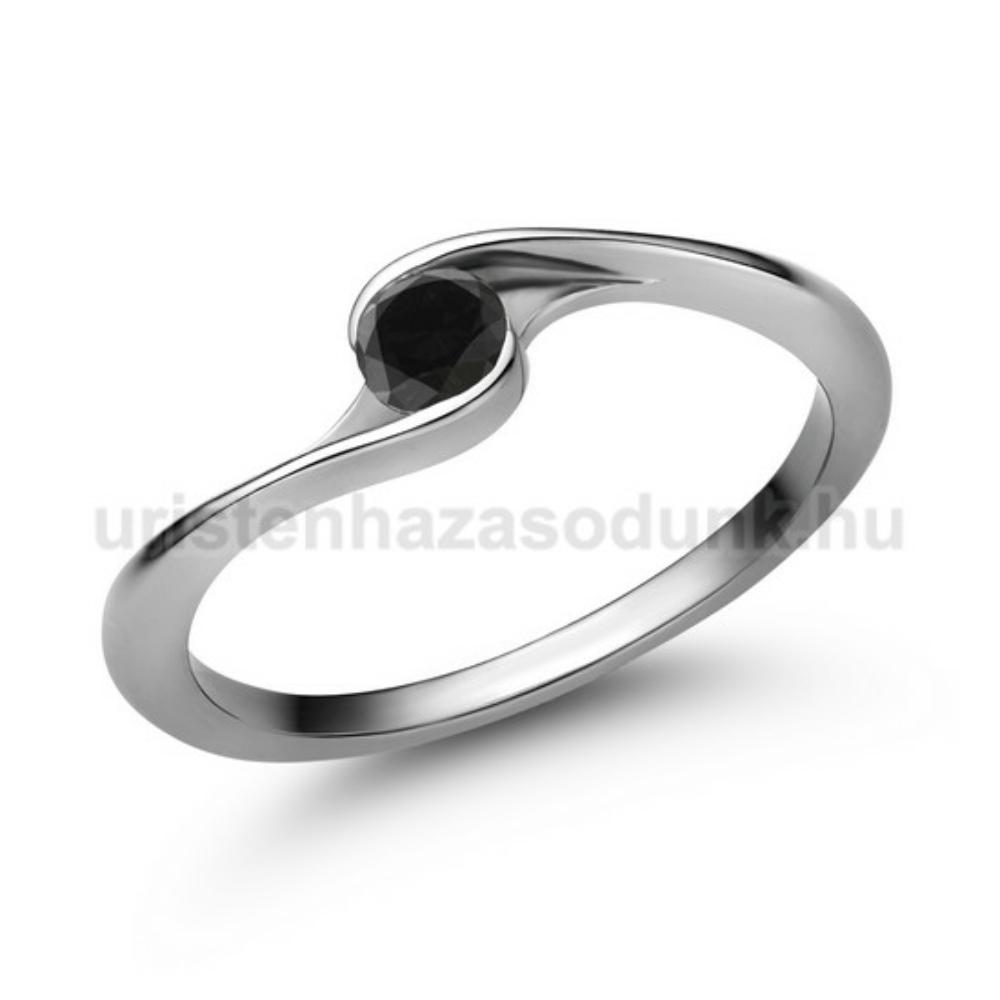 E106FBB - FEKETE GYÉMÁNT - Eljegyzési gyűrű