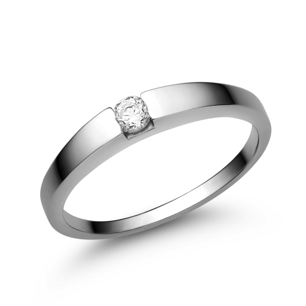 E10FB10 - GYÉMÁNT:  0.10 CT (=2.9mm Ø) Eljegyzési Gyűrű