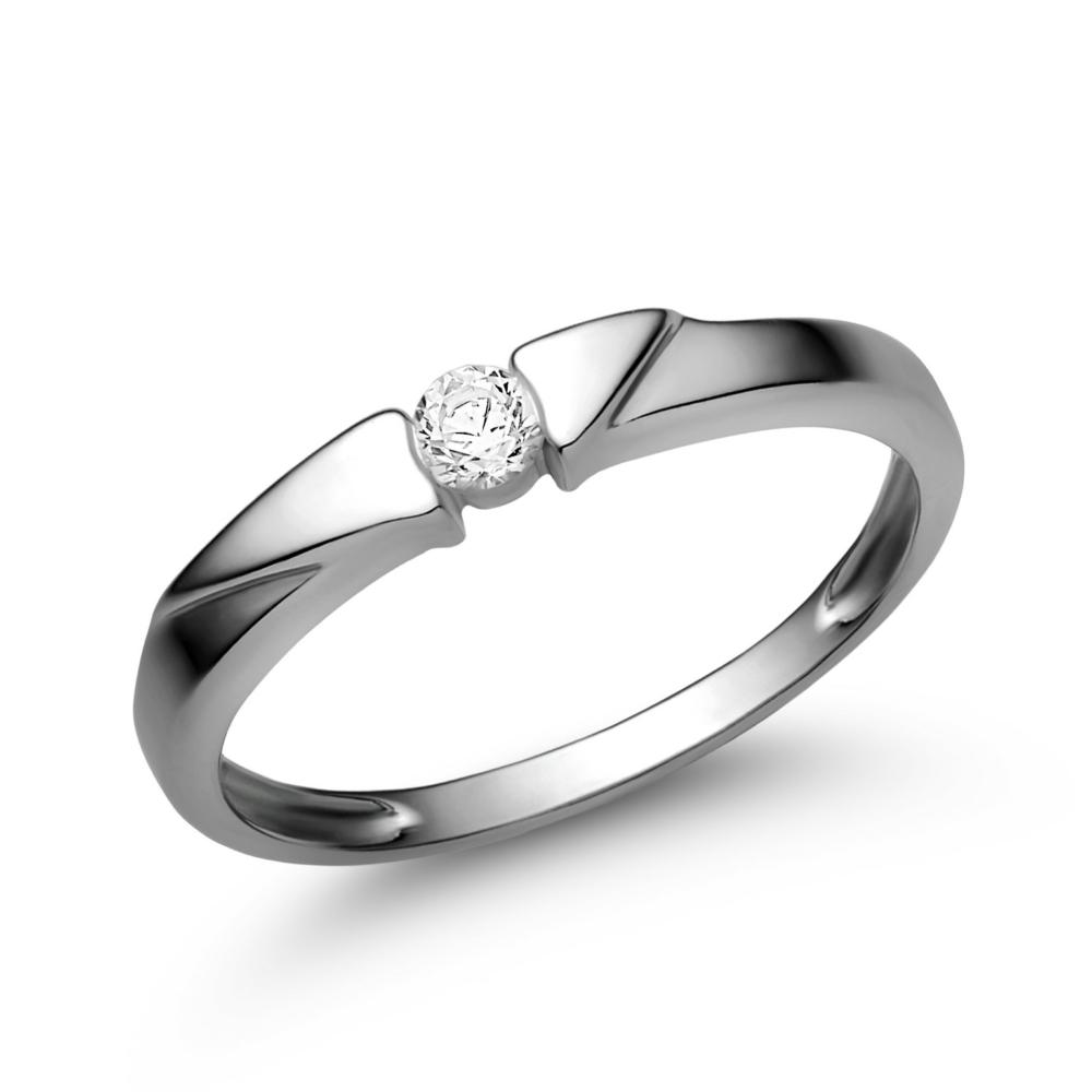 E12FC - CIRKÓNIA köves fehér arany Eljegyzési Gyűrű