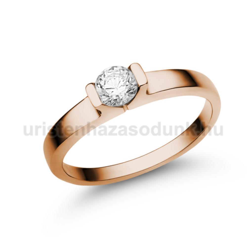 E13RC - CIRKÓNIA köves rozé arany Eljegyzési Gyűrű