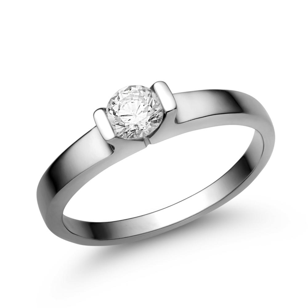 E13FC - CIRKÓNIA köves fehér arany Eljegyzési Gyűrű