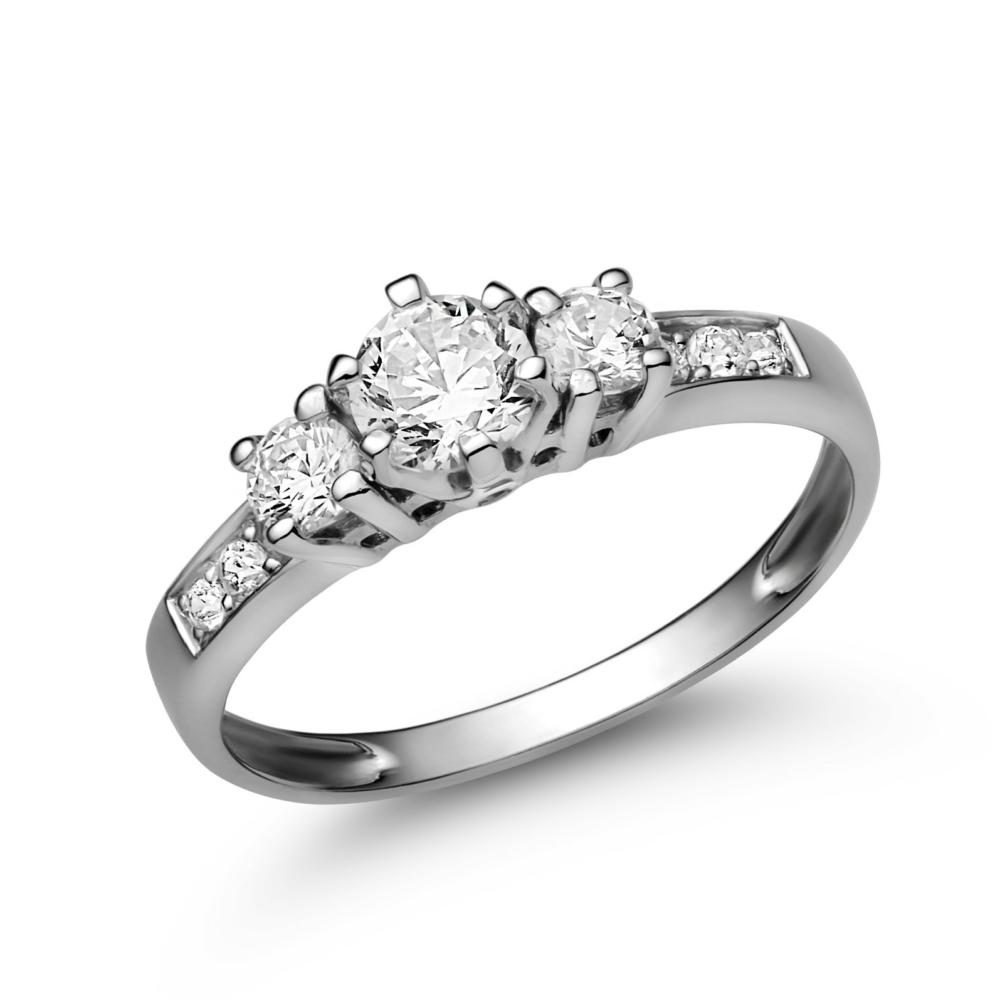 E18FC - CIRKÓNIA köves fehér arany Eljegyzési Gyűrű