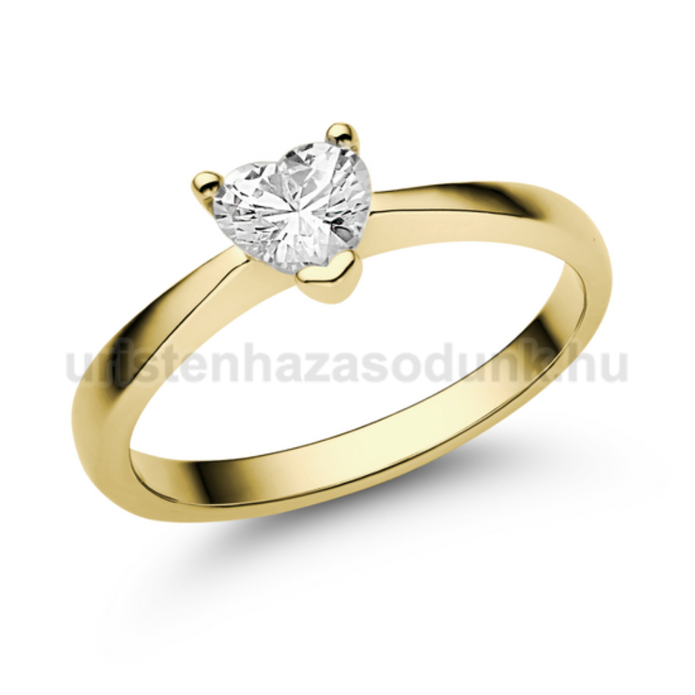 E203SC - CIRKÓNIA köves sárga arany Eljegyzési Gyűrű