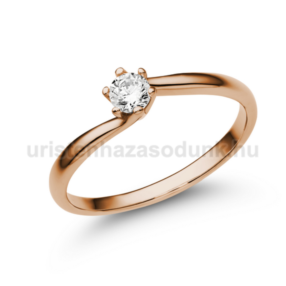 E209RC - CIRKÓNIA köves rozé arany Eljegyzési Gyűrű