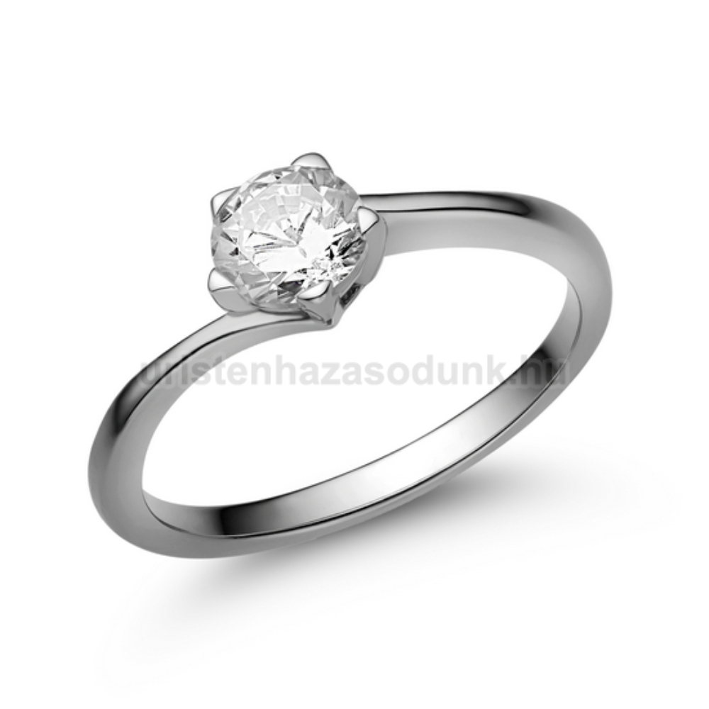 E214FB50 - GYÉMÁNT: 0,50ct (5,00mm Ø) Eljegyzési Gyűrű