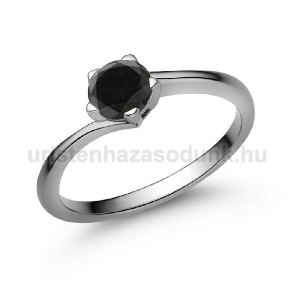 E214FBB - FEKETE GYÉMÁNT - Eljegyzési gyűrű
