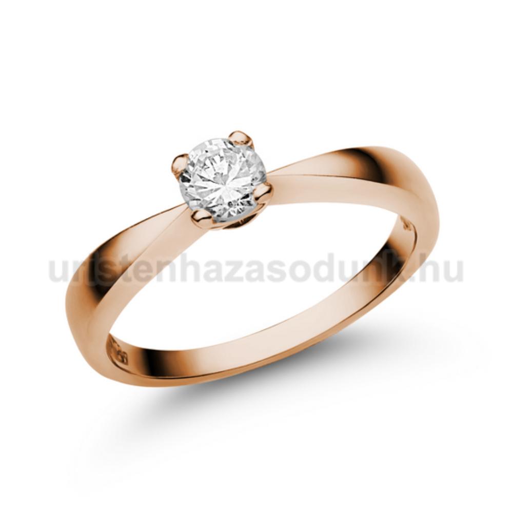 E23RC - CIRKÓNIA köves rozé arany Eljegyzési Gyűrű