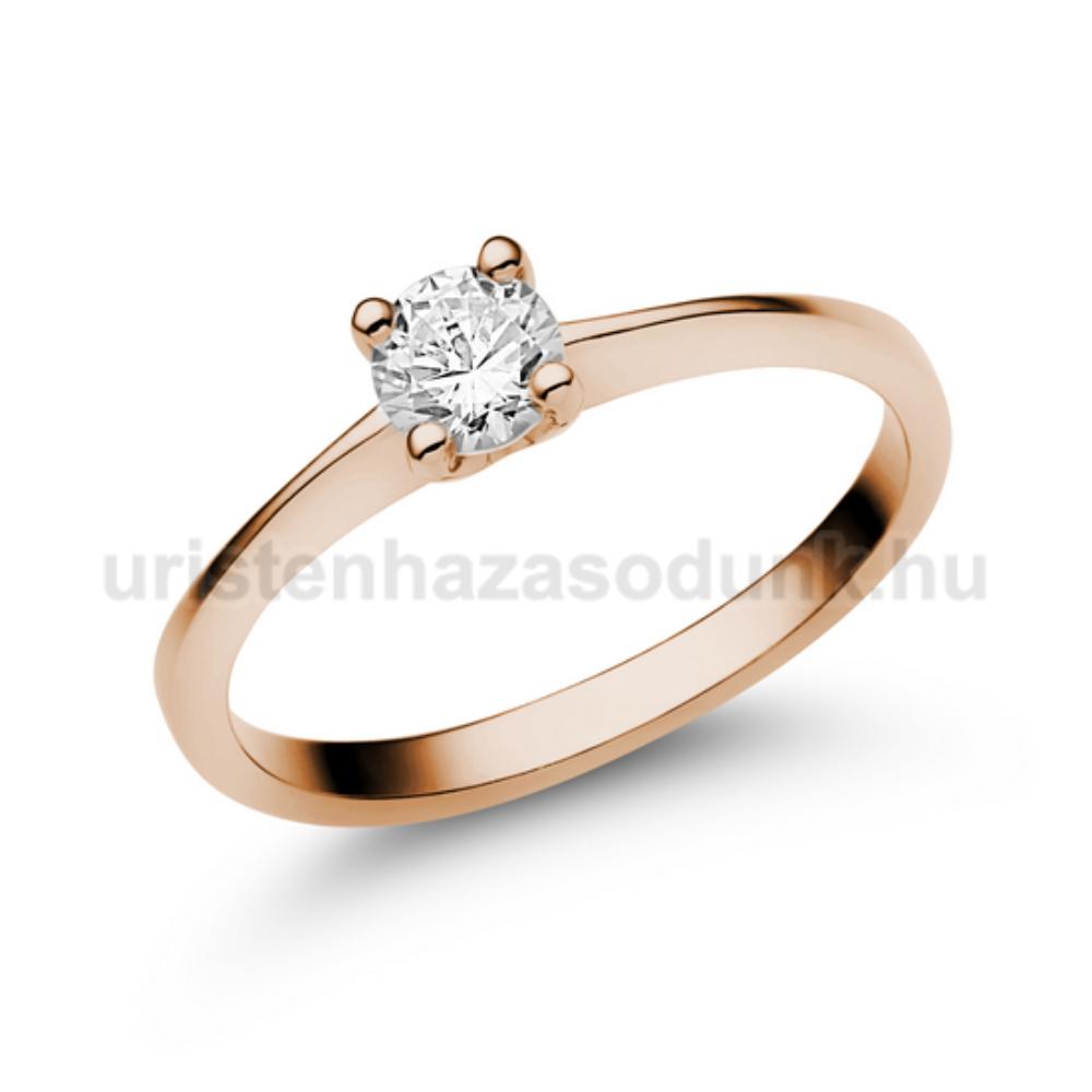 E25RC - CIRKÓNIA köves rozé arany Eljegyzési Gyűrű