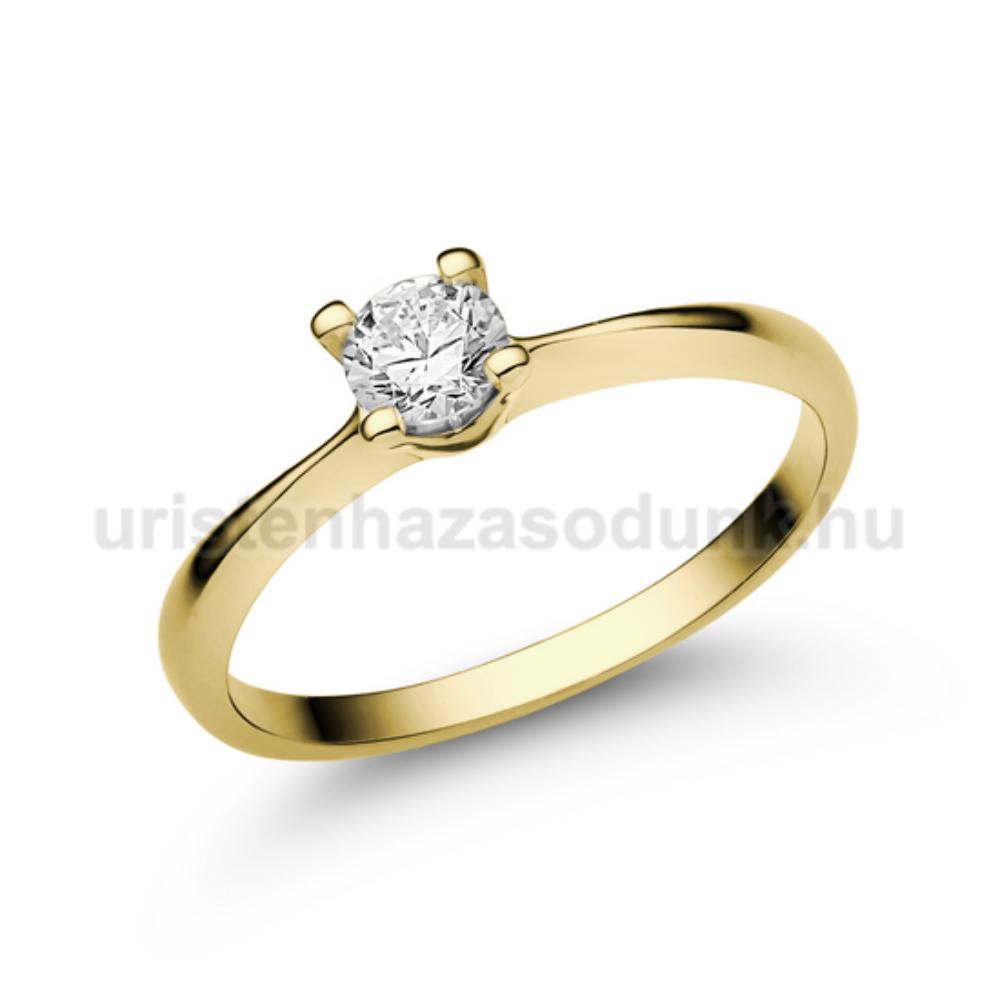 E26SC - CIRKÓNIA köves sárga arany Eljegyzési Gyűrű