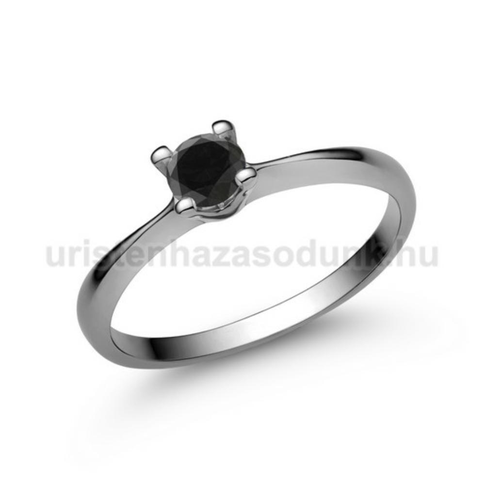 E26FBB - FEKETE GYÉMÁNT - Eljegyzési gyűrű
