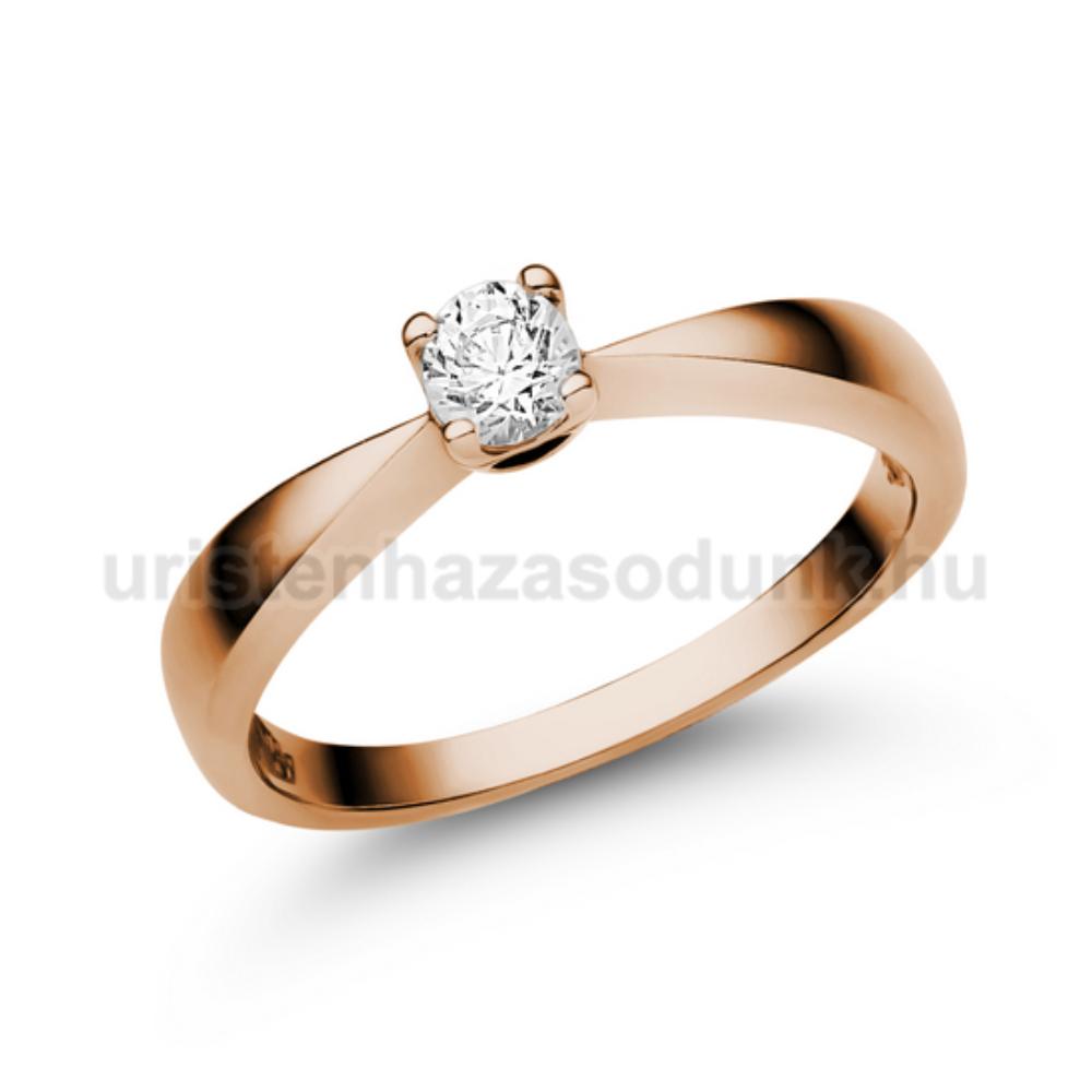 E2RC - CIRKÓNIA köves rozé arany Eljegyzési Gyűrű