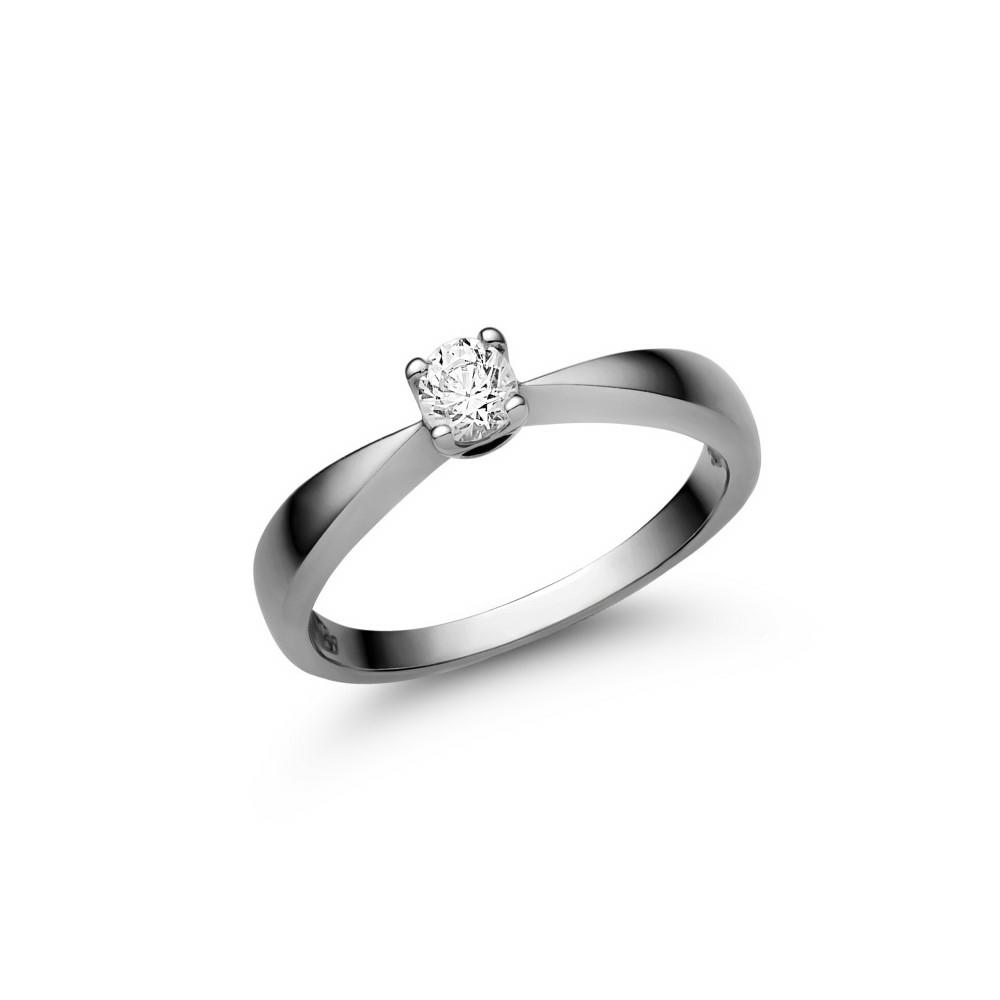 E2FC - CIRKÓNIA köves fehér arany Eljegyzési Gyűrű