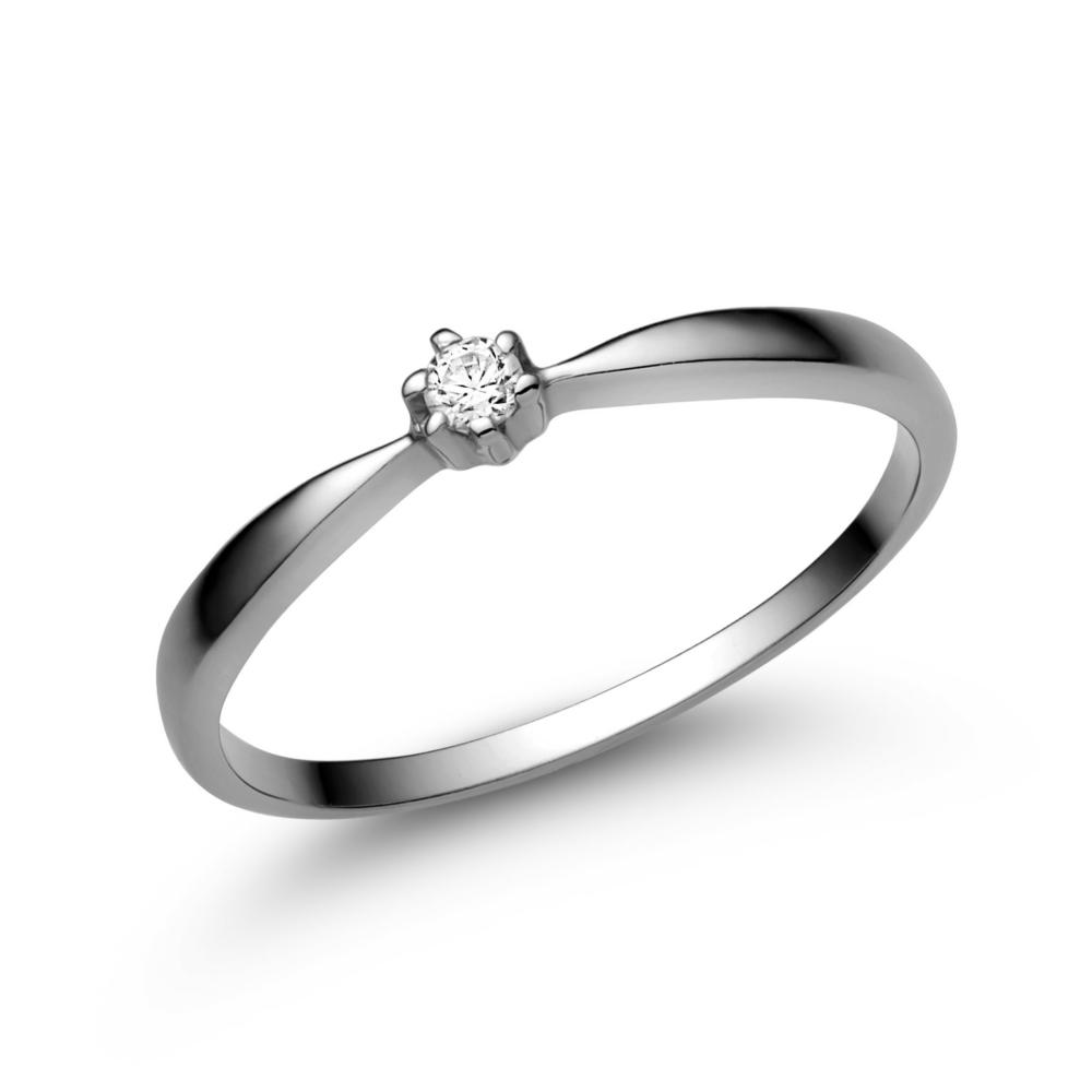 E30FC - CIRKÓNIA köves fehér arany Eljegyzési Gyűrű