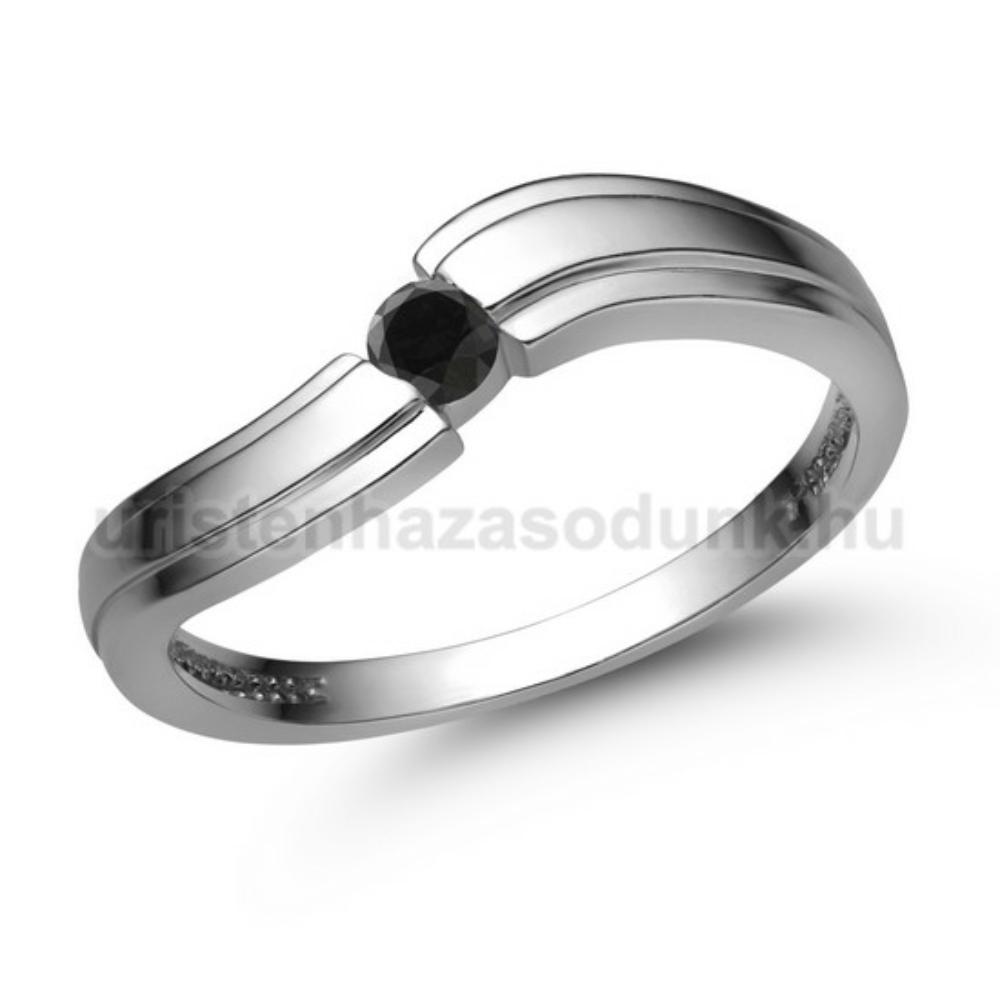 E325FBB - FEKETE GYÉMÁNT - Eljegyzési gyűrű