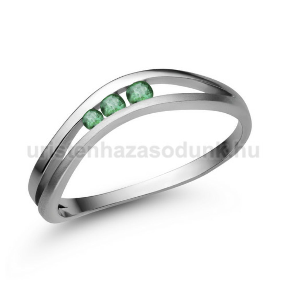 E329FS - SMARAGD Eljegyzési gyűrű