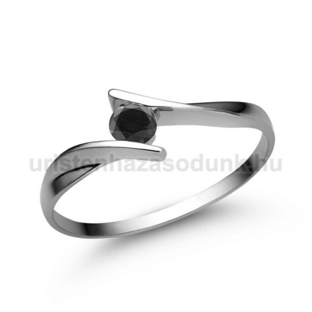 E333FBB - FEKETE GYÉMÁNT - Eljegyzési gyűrű