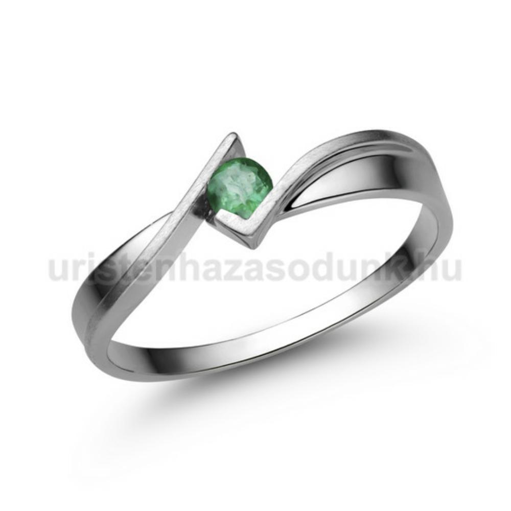 E334FS - SMARAGD Eljegyzési gyűrű