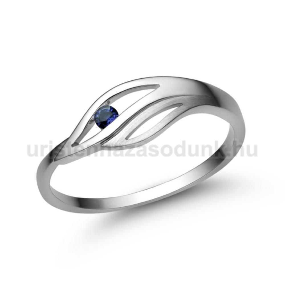 E335FZK - KÉK ZAFÍR KÖVES Eljegyzési gyűrű