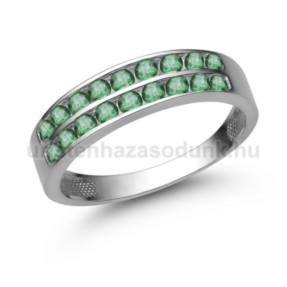 E342FS - SMARAGD Eljegyzési gyűrű