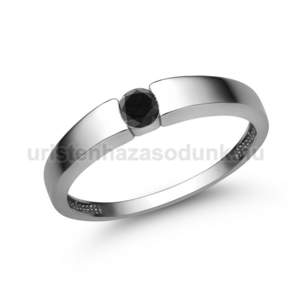 E345FBB - FEKETE GYÉMÁNT - Eljegyzési gyűrű