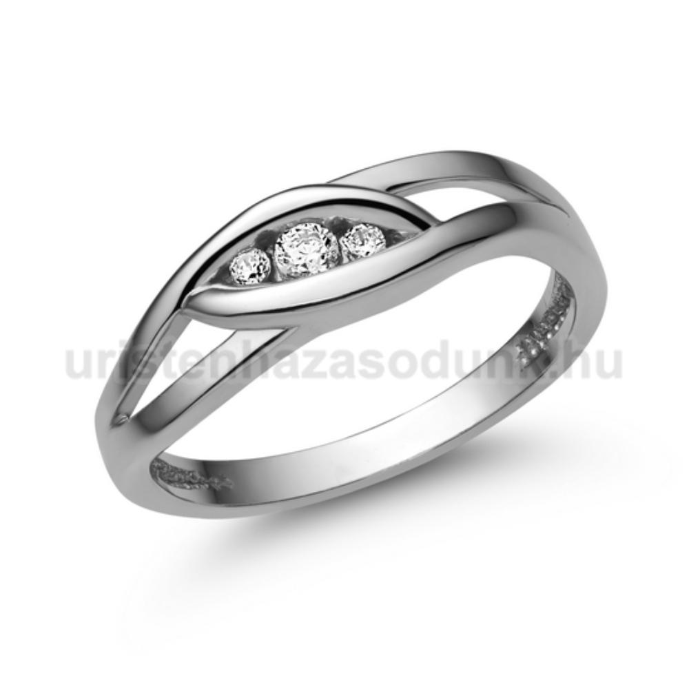 E354FB09 - GYÉMÁNT: 0.09 CT (=2.5mm Ø) Eljegyzési Gyűrű