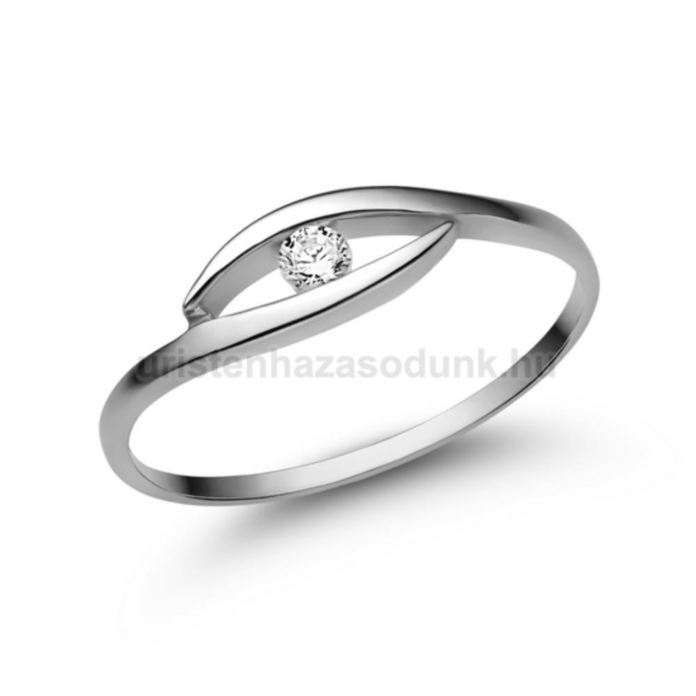 E355FB06 - GYÉMÁNT:  0.06 CT (2.50 mm Ø) Eljegyzési Gyűrű