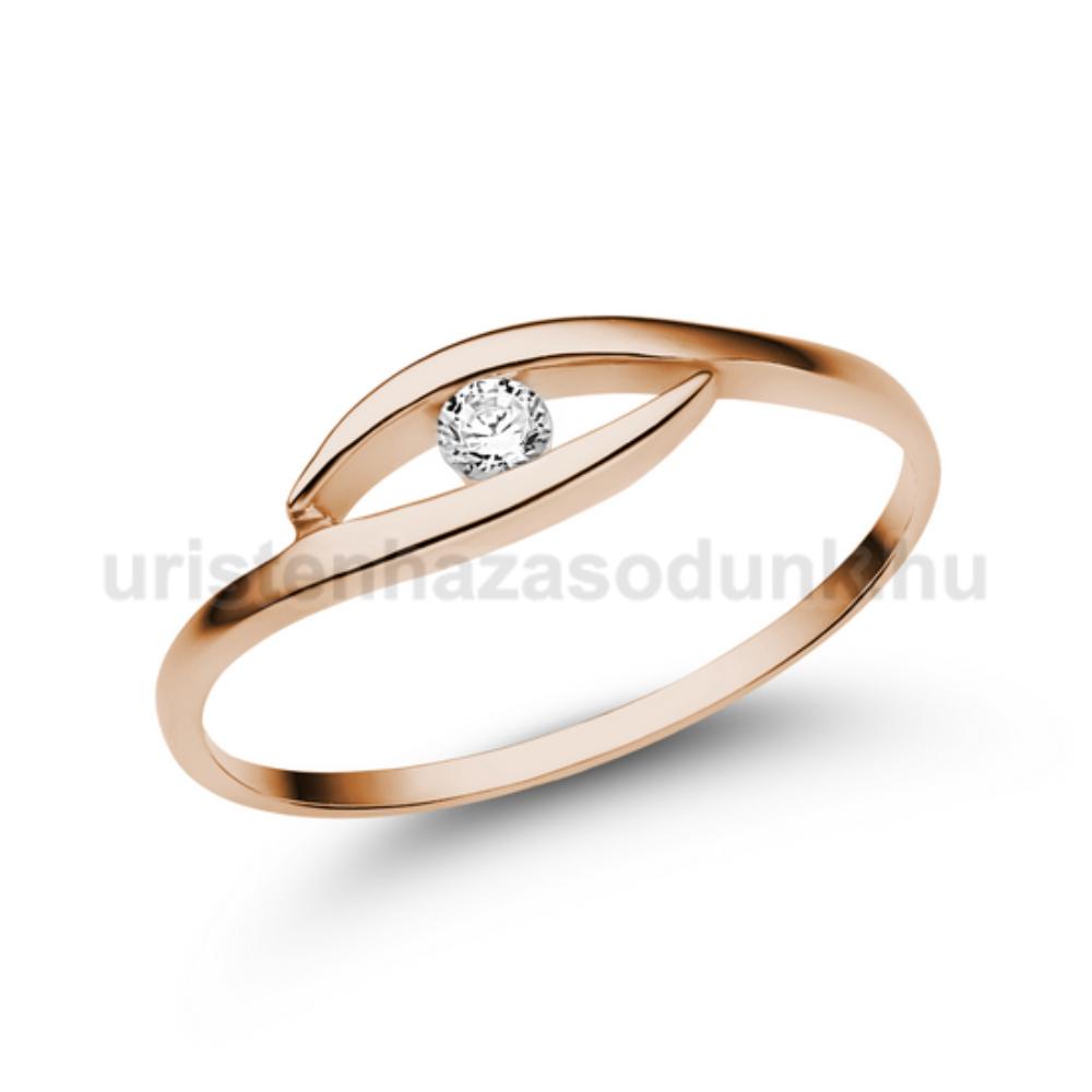 E355RB06 - GYÉMÁNT:  0.06 CT (=2.50 mm Ø) Eljegyzési Gyűrű
