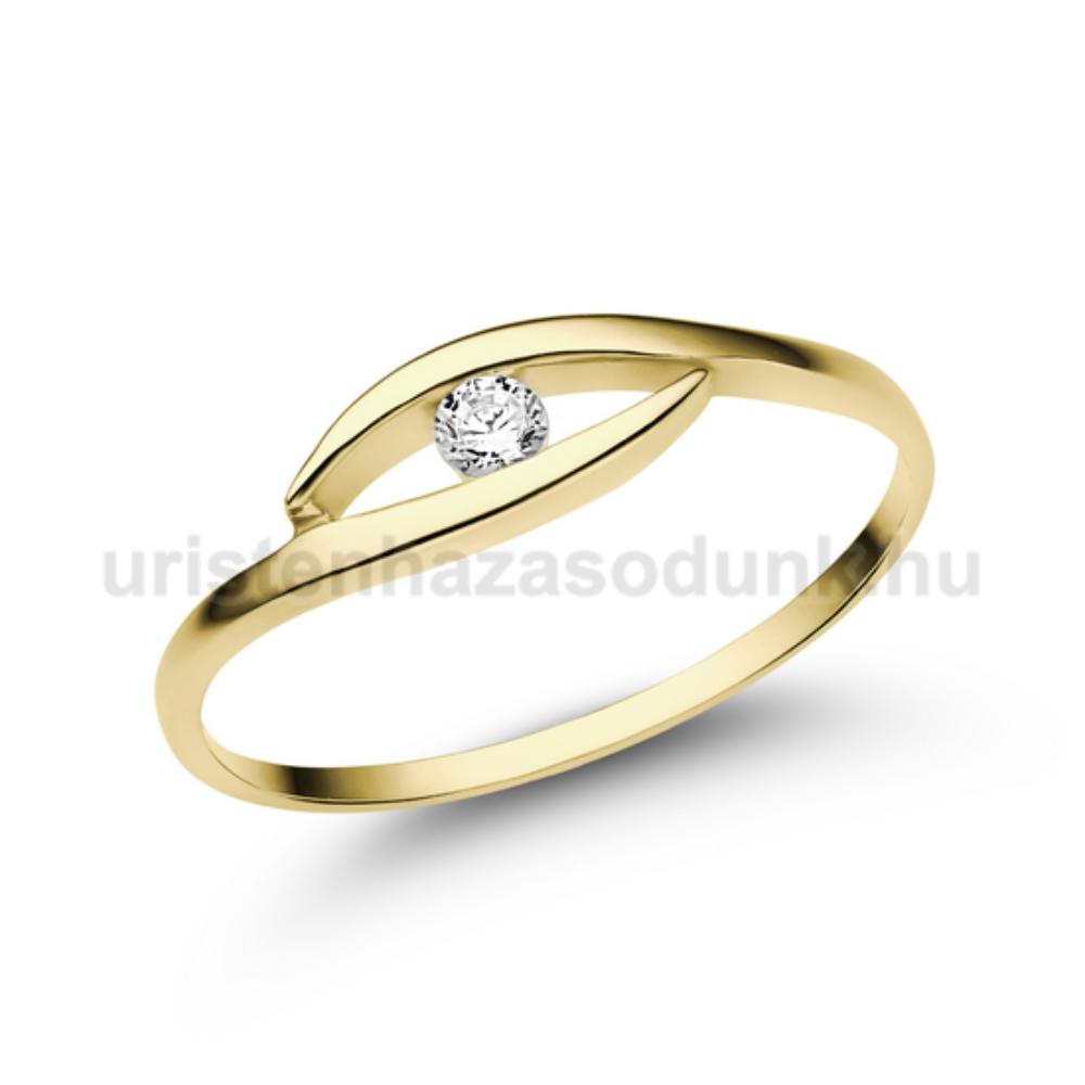 E355SB06 - GYÉMÁNT:  0.06 CT (=2.50 mm Ø) Eljegyzési Gyűrű