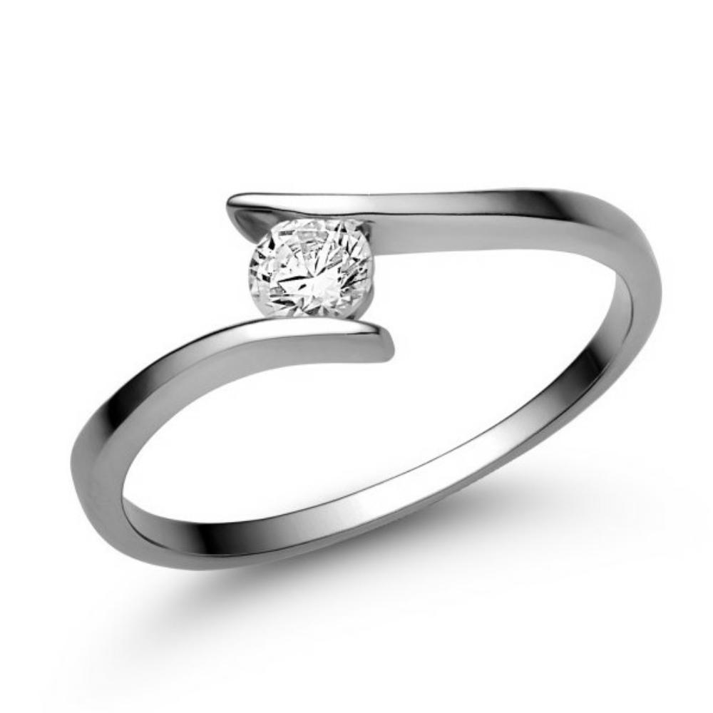 E3FC - CIRKÓNIA köves fehér arany Eljegyzési Gyűrű