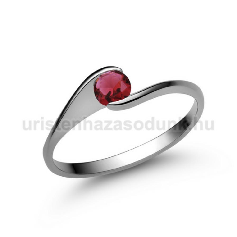 E4FR - RUBIN köves fehér arany Eljegyzési Gyűrű