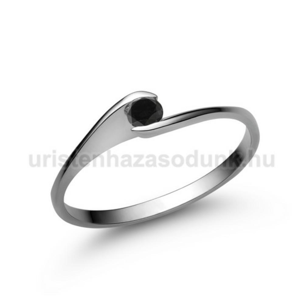 E5FBB - FEKETE GYÉMÁNT - Eljegyzési gyűrű