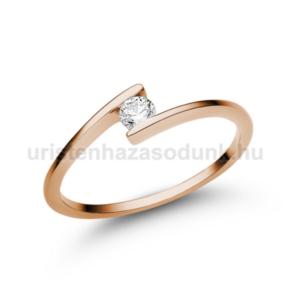 E7RB12 - GYÉMÁNT:  0.12 CT (=3.1mm Ø) Eljegyzési Gyűrű