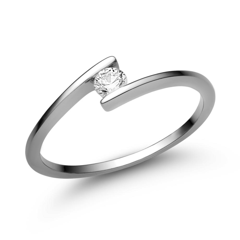 E7FC - CIRKÓNIA köves fehér arany Eljegyzési Gyűrű