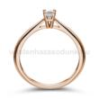 E102RC - CIRKÓNIA köves rozé arany Eljegyzési Gyűrű