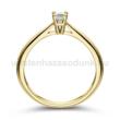 E102SC - CIRKÓNIA köves sárga arany Eljegyzési Gyűrű