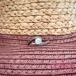 E103FM_B - AMETISZT - GYÉMÁNT köves fehér arany Eljegyzési Gyűrű