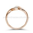 E104RC - CIRKÓNIA köves rozé arany Eljegyzési Gyűrű