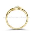 E104SC - CIRKÓNIA köves sárga arany Eljegyzési Gyűrű