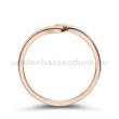 E105RC - CIRKÓNIA köves rozé arany Eljegyzési Gyűrű