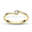 E105SC - CIRKÓNIA köves sárga arany Eljegyzési Gyűrű