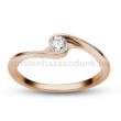 E106RC - CIRKÓNIA köves rozé arany Eljegyzési Gyűrű