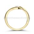 E106SB16 - GYÉMÁNT:  0.16 CT (=3.5mm Ø) Eljegyzési Gyűrű