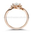 E107RC - CIRKÓNIA köves rozé arany Eljegyzési Gyűrű