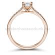 E109RB65 - GYÉMÁNT:  0.65 CT (5.0 mm Ø) Eljegyzési Gyűrű