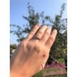E10FZF - FEHÉR ZAFÍR köves fehér arany Eljegyzési Gyűrű
