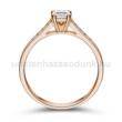 E111RB62 - GYÉMÁNT:  0.62 CT (4.5 mm Ø) Eljegyzési Gyűrű